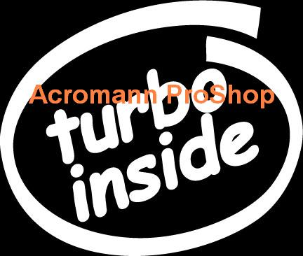 turbo inside 4inch Decal x 2 pcs